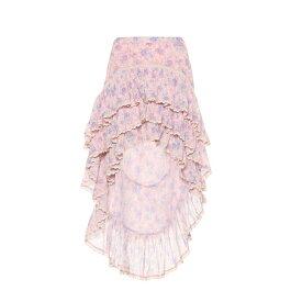 ラブシャックファンシー LoveShackFancy レディース スカート ミニスカート【Elle floral cotton gauze skirt】Pink Garden