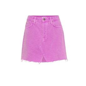 ガールフレンズ Grlfrnd レディース スカート ミニスカート【The Milla denim miniskirt】Electric Purple