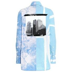 プロエンザ スクーラー Proenza Schouler レディース トップス ブラウス・シャツ【Tie-dye cotton shirt】Baby Blue/Lilac