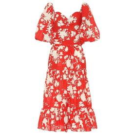 ジョアンナオッティ Johanna Ortiz レディース ワンピース・ドレス ワンピース【Beautiful Chaos floral cotton dress】Campari/Eccru