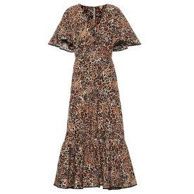 ジョアンナオッティ Johanna Ortiz レディース ワンピース・ドレス ワンピース【Animal Jewel cotton and silk dress】Leopard Classic
