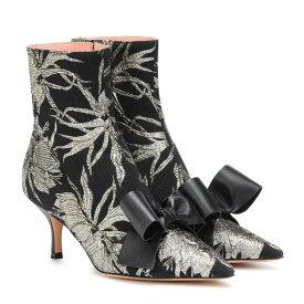 ロシャス Rochas レディース シューズ・靴 ブーツ【Brocade ankle boots】Nero-Oro