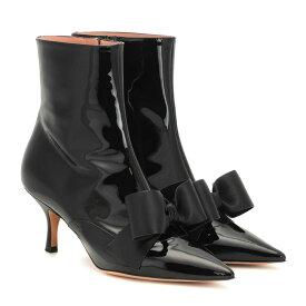 ロシャス Rochas レディース シューズ・靴 ブーツ【Patent leather ankle boots】Nero