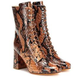 マリアム ナッシアー ザデー Maryam Nassir Zadeh レディース シューズ・靴 ブーツ【Emmanuelle snake-effect ankle boots】auburn snake