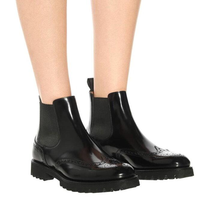 チャーチChurch'sレディースシューズ・靴ブーツ【LeatherChelseaankleboots】Black