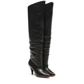 ジバンシー Givenchy レディース シューズ・靴 ブーツ【Ruched leather boots】Black