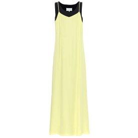 メゾン マルジェラ Maison Margiela レディース ワンピース・ドレス ワンピース【Double-layered crepe dress】Yellow/Blu Navy