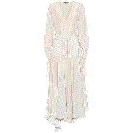 ステラ マッカートニー Stella McCartney レディース ワンピース・ドレス ワンピース【Printed silk midi dress】natural