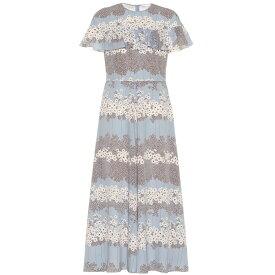 レッド ヴァレンティノ REDValentino レディース ワンピース・ドレス ワンピース【Ruffled floral midi dress】Dusty Blue