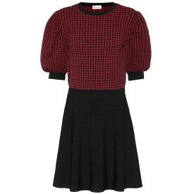 レッド ヴァレンティノ REDValentino レディース ワンピース・ドレス ワンピース【Heart knit minidress】Nero/Deep Red