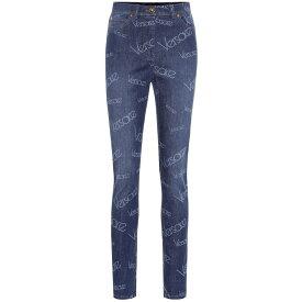 ヴェルサーチ Versace レディース ボトムス・パンツ ジーンズ・デニム【Logo high-rise skinny jeans】Denim Light Blue