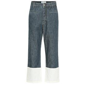 ロエベ Loewe レディース ボトムス・パンツ ジーンズ・デニム【Cropped high-rise wide-leg jeans】Mid Blue Denim