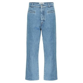 ロエベ Loewe レディース ボトムス・パンツ ジーンズ・デニム【Cropped high-rise wide-leg jeans】Blue Denim