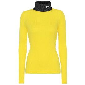 プロエンザ スクーラー Proenza Schouler レディース トップス ニット・セーター【PSWL cotton turtleneck sweater】Yellow Combo