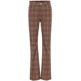 メゾン マルジェラ MM6 Maison Margiela レディース ボトムス・パンツ【Checked wool-blend pants】Brown Check