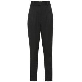 イヴ サンローラン Saint Laurent レディース ボトムス・パンツ【High-rise wool pants】Noir
