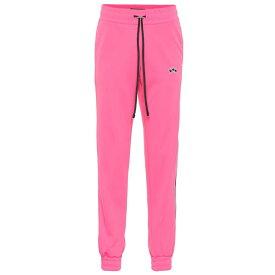 アミリ Amiri レディース ボトムス・パンツ スウェット・ジャージ【Leather-trimmed trackpants】Neon Pink