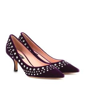 ロシャス Rochas レディース シューズ・靴 パンプス【Embellished velvet pumps】Las Vegas