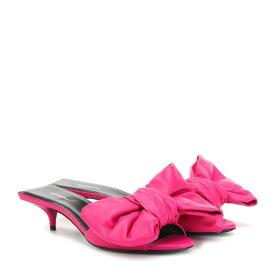 バレンシアガ Balenciaga レディース シューズ・靴 サンダル・ミュール【Leather sandals】Magenta Pink