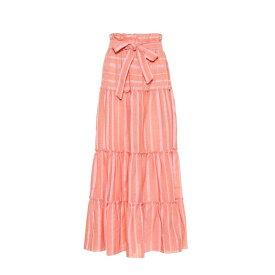 レムレム Lemlem レディース スカート ロング・マキシ丈スカート【Taytu cotton-blend maxi skirt】Pink