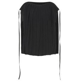 メゾン マルジェラ MM6 Maison Margiela レディース トップス ノースリーブ【Pleated cape top】Black