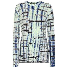 プロエンザ スクーラー Proenza Schouler レディース トップス【Tie-dye cotton jersey top】Lime/Cobalt