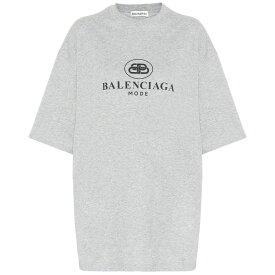 バレンシアガ Balenciaga レディース トップス Tシャツ【Logo cotton T-shirt】Heather Grey