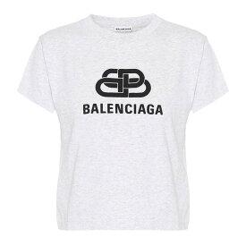 バレンシアガ Balenciaga レディース トップス Tシャツ【Logo cotton T-shirt】Lhg/Black