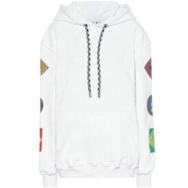 プロエンザ スクーラー Proenza Schouler レディース トップス パーカー【Printed cotton hoodie】White Multi Logo