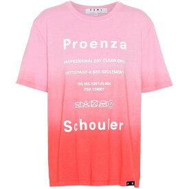 プロエンザ スクーラー Proenza Schouler レディース トップス Tシャツ【Printed cotton T-shirt】Pink Tie Dye/Care Lable