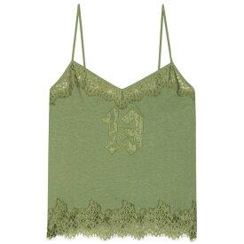 プーマ Fenty by Rihanna レディース スリップ・キャミソール インナー・下着【Lace-trimmed cotton camisole】Olive Branch