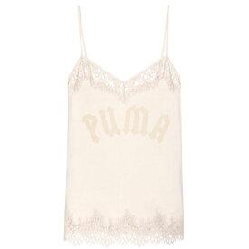 プーマ Fenty by Rihanna レディース スリップ・キャミソール インナー・下着【Lace-trimmed cotton camisole】Pink Tint