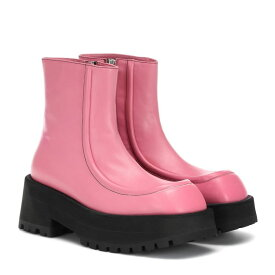 マルニ Marni レディース ブーツ ショートブーツ シューズ・靴【Leather ankle boots】