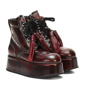 マルニ Marni レディース ブーツ ショートブーツ シューズ・靴【Patent leather platform ankle boots】