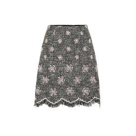 ジャンバティスタ バリ Giambattista Valli レディース ミニスカート スカート【Floral tweed miniskirt】Ivoire Black Em Rose