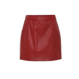 ヘルムート ラング Helmut Lang レディース ミニスカート スカート【Leather mini skirt】lava