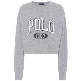 ラルフ ローレン Polo Ralph Lauren レディース スウェット・トレーナー トップス【Printed cotton jersey sweatshirt】Heather Grey