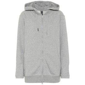 アディダス Adidas by Stella McCartney レディース パーカー トップス【Essentials cotton-blend hoodie】Medium Grey Heather