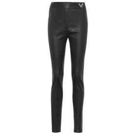 ヴァレンティノ Valentino レディース スキニー・スリム レザーパンツ ボトムス・パンツ【Leather high-rise skinny pants】