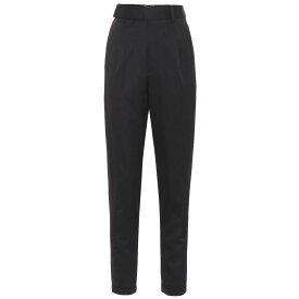 イヴ サンローラン Saint Laurent レディース ボトムス・パンツ 【High-rise virgin wool twill pants】Noir