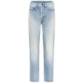 イヴ サンローラン Saint Laurent レディース ジーンズ・デニム ボトムス・パンツ【Mid-rise slim jeans】s Vintage Blue