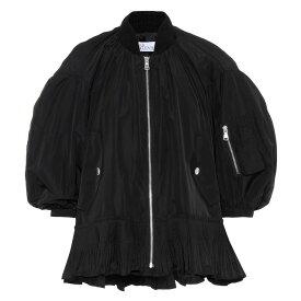 レッド ヴァレンティノ REDValentino レディース ブルゾン ミリタリージャケット アウター【ruffle-trimmed bomber jacket】Black
