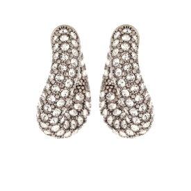 バレンシアガ Balenciaga レディース イヤリング・ピアス ジュエリー・アクセサリー【loop embellished hoop earrings】