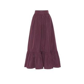 ヴァレンティノ Valentino レディース ひざ丈スカート スカート【cotton-blend twill skirt】Real Purple