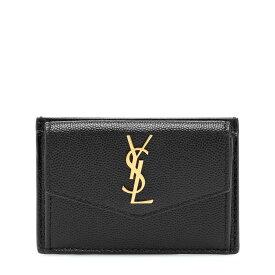 イヴ サンローラン Saint Laurent レディース カードケース・名刺入れ 【uptown leather card case】Noir