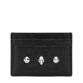 アレキサンダー マックイーン Alexander McQueen レディース カードケース・名刺入れ 【embellished leather cardholder】Black/New Red