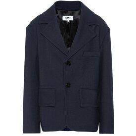 メゾン マルジェラ MM6 Maison Margiela レディース スーツ・ジャケット アウター【Single-breasted blazer】Navy