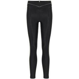アダム セルマン Adam Selman Sport レディース スパッツ・レギンス インナー・下着【Plunge studded leggings】Black-Silver