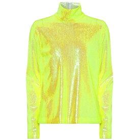メゾン マルジェラ MM6 Maison Margiela レディース トップス 【Sequined high-neck top】Yellow