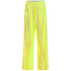 メゾン マルジェラ MM6 Maison Margiela レディース ボトムス・パンツ 【Sequined wide-leg pants】Yellow